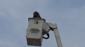 The Adventures of CAB in the cherry picker