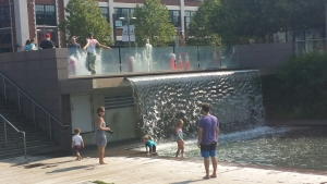 Yards Park waterfall