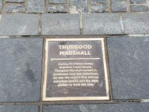 Thurgood Marshall Plaque SW Wharf