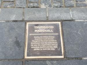 Thurgood Marshall Plaque SW Wharf